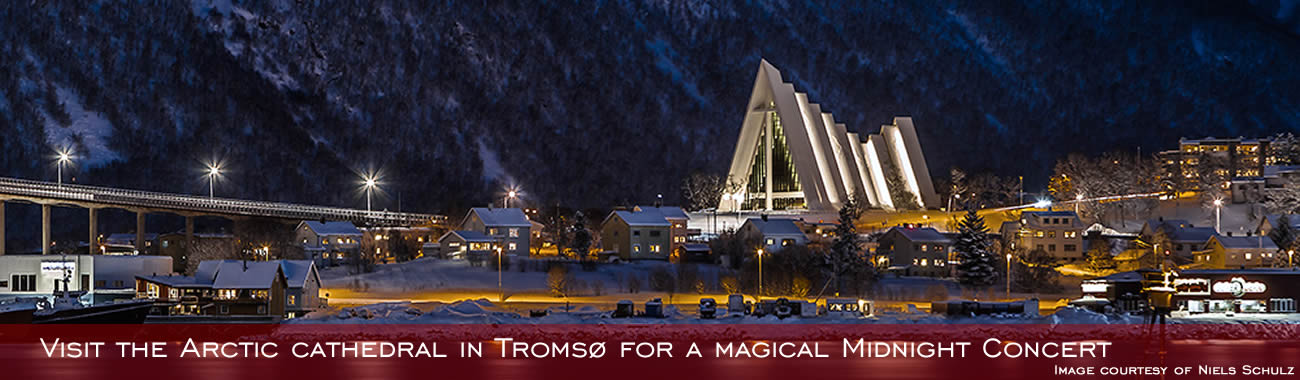 See the Arctic Cathedral in Tromsø