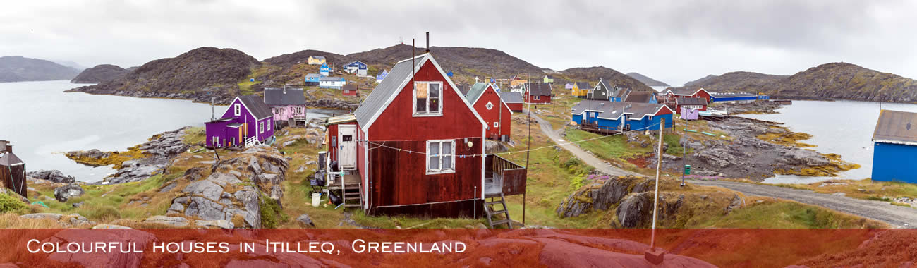 Colourful houses in Itilleq, Greenland