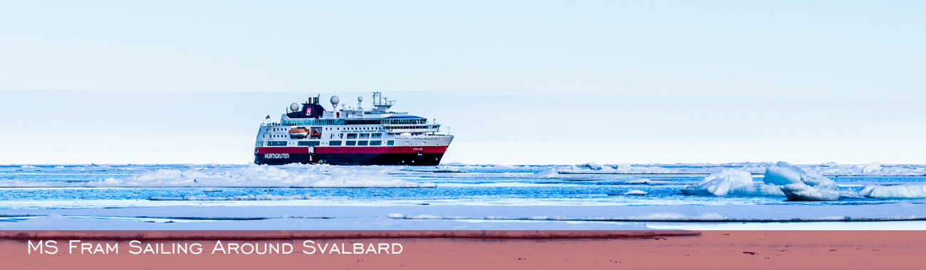 MS Fram sailing around Svalbard