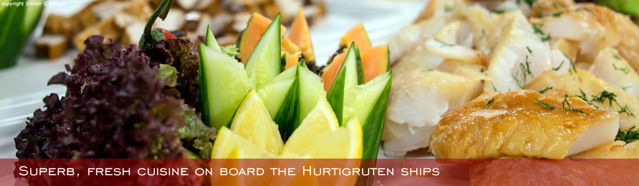 Superb, fresh cuisine on board