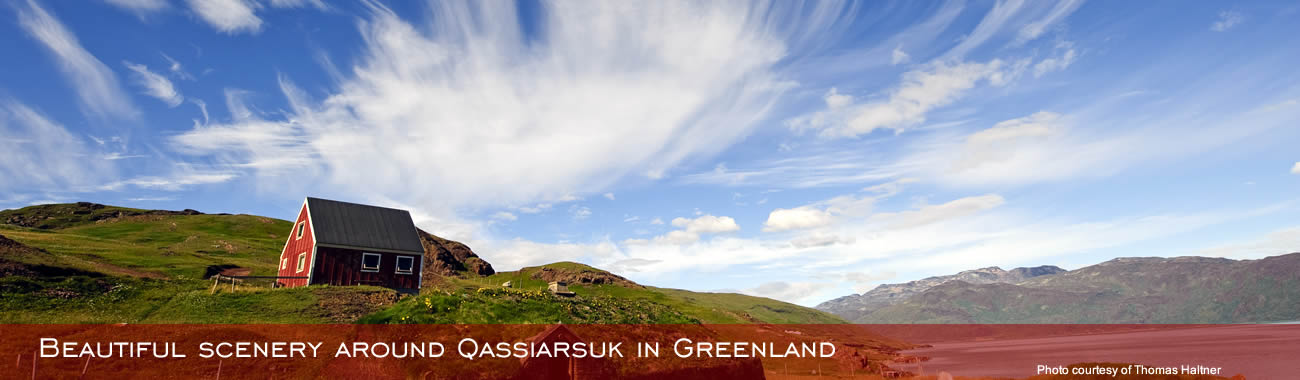 Beautiful scenery around Qassiarsuk in Greenland