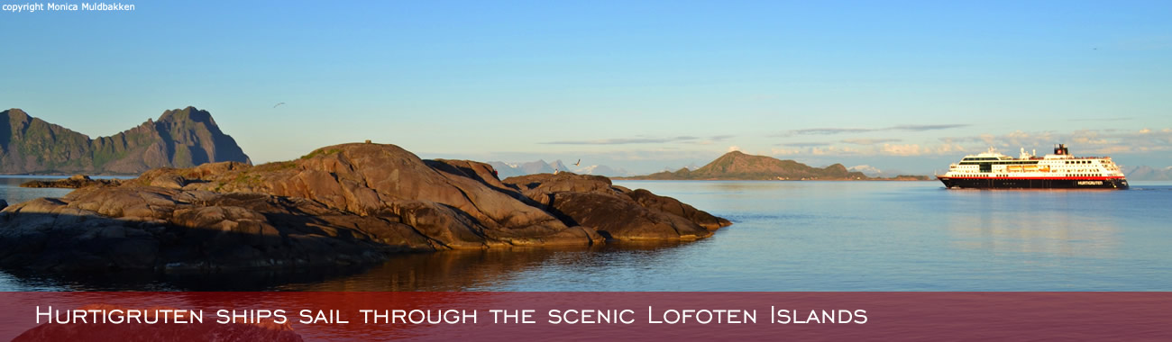 Sailing through the scenic Lofoten Islands