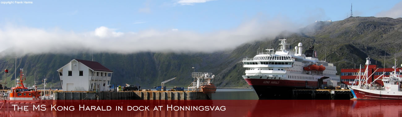 The MS Kong Harald in dock at Honningsvåg