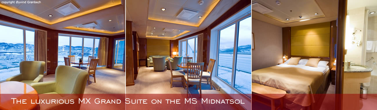 Hurtigruten cabins - The luxurious MX Grand Suite on the MS Midnatsol