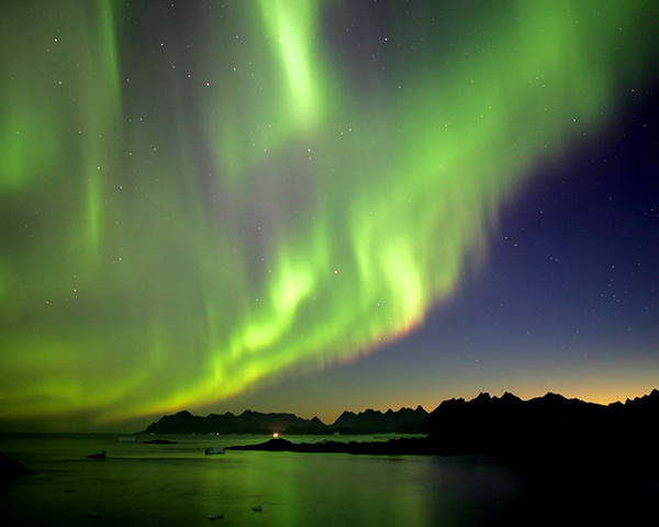 The Northern Lights over Norway