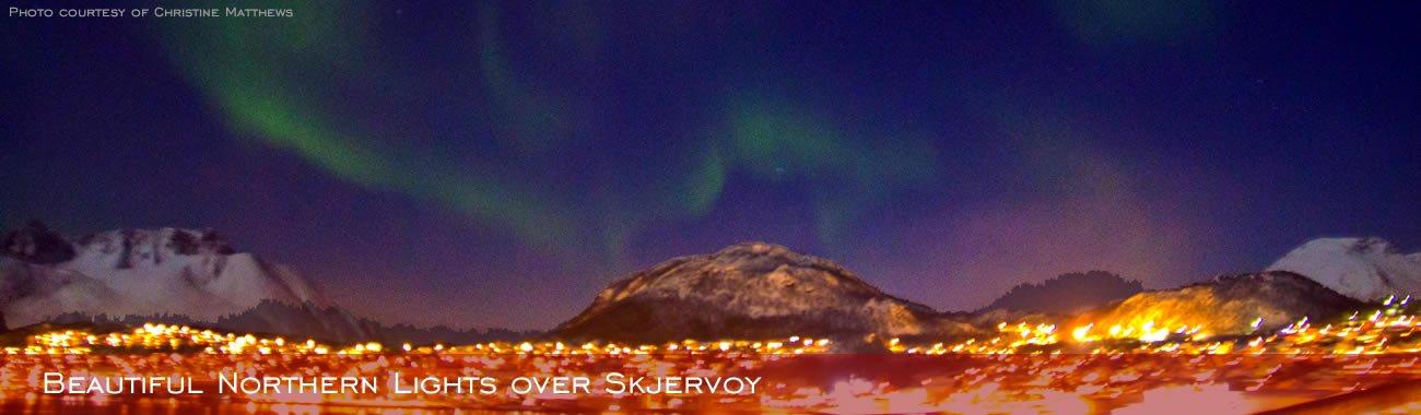 Beautiful Northern Lights over Skjervøy