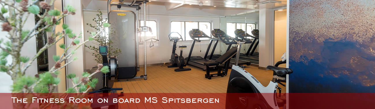 The fitness Room on board MS Spitsbergen