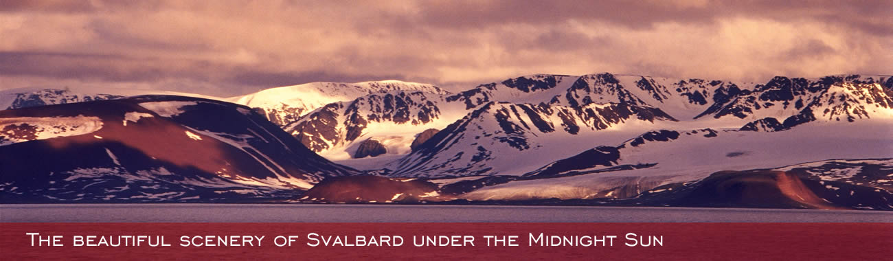 The beautiful scenery of Svalbard under the Midnight Sun