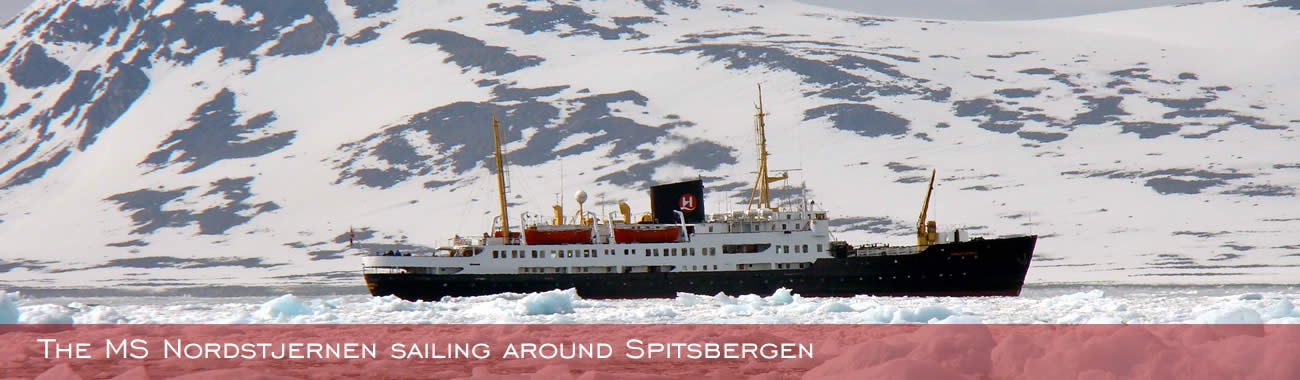 The MS Nordstjernen sailing around Spitsbergen