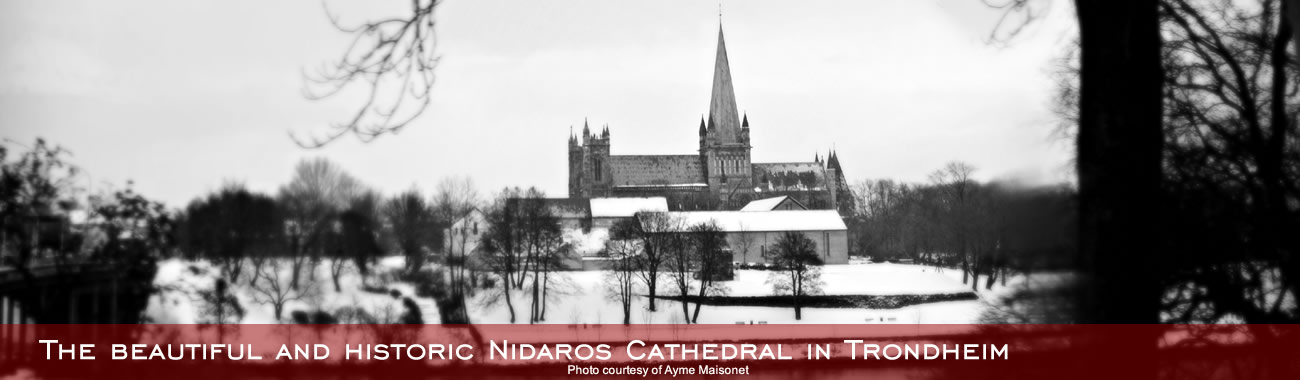 The beautiful and historic Nidaros Cathedral in Trondheim