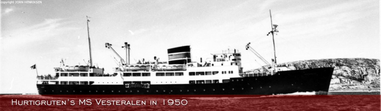 Hurtigruten's The MS Vesterålen in 1950